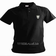 Рубашка поло Rover черная вышивка белая фото