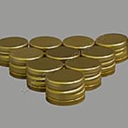 "Алюминиевый колпачок типа ""Винт"" золото с резьбой 28х18 (10шт) фото"