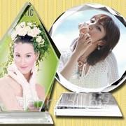 Стеклянная стела с фотографией фото