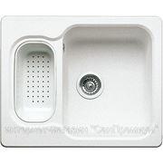 Blanco NOVA 6 SILGRANIT Кухонная мойка врезная оборачиваемая, без крыла с коландером, гранит, белый, 510851 фото