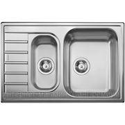 """Blanco LIVIT 6 S Compact Кухонная мойка врезная оборачиваемая, расположение крыла возможно слева или справа, нержавеющая сталь """"декор"""", фото"""