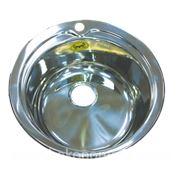 Мойка для кухни круглая врезная СМС D49х0.8 мм фото