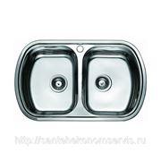 Мойка врезная двойная из нержавейки для кухни F49х80 фото