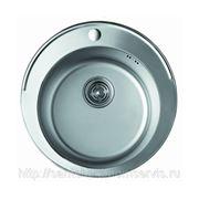 Мойка врезная круглая из нержавеющей стали для кухни F42 фото