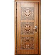 """Стальная дверь. Входная. Модель """"Круг"""". фото"""