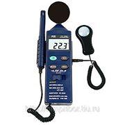 Многофункциональный прибор измерения влажности, температуры, уровня освещенности и шума PCE-EM882 фото