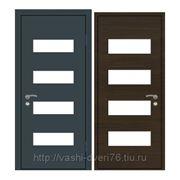 Стальные входные двери Комби Метал.лист Экошпон венге Стекло