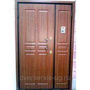 Двустворчатые входные двери с домофоном фото