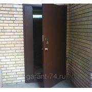Двери металлические входные с дополнительной секцией фото