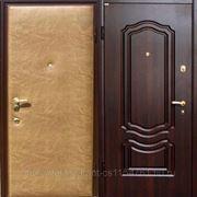 Стальная дверь винилискожа + ПВХ-6 фото
