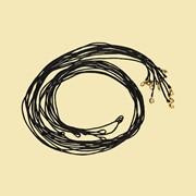 Гайтан с застежкой карабин (цвет: черный). Арт.Г435 фото