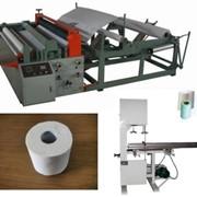 Линия производства туалетной бумаги и бумажных полотенец в рулонах фото