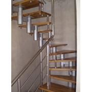 Металлические лестницы на косоурах в Тюмени и Тобольске. фото