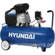 Компрессор Hyundai HY 2050, поршневой, 2.5 л.с., 8 атм., объём ресивера 50 л, max произ-ть 250 л/мин. фото