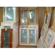 Недорогие окна из дерева со стеклопакетом размер 1170х870 фото