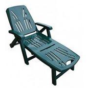 Пластиковый Шезлонг (лежак) LETTINO зеленый фото