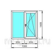 Окно Ortex 6-тикамерное,1300*1400, тип фурнитуры Siegenia Favorit (Германия) ширина профиля 70 мм,с/п 40 мм фото