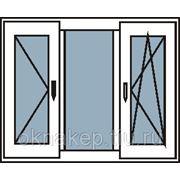 Пластиковые окна трехстворчатые с двумя створками фото