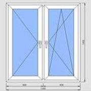 Окно пластиковое Монблан двухстворчатое под ключ фото