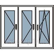 Пластиковые окна трехстворчатые с тремя створками фото