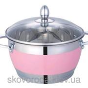 Кастрюля Lessner Color Pink Brighton LS-55117-18P (18см, 2.7л) фото