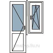 Балконный блок с поворотно-откидным окном фото