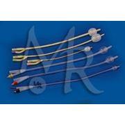 Катетер Фолея 2*ходовой латекс покрытый силиконом СН26 фото