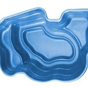 Декоративный цветной садовый пластиковый пруд 2700л. Цвет: Синий. фото