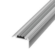 ЛУКА Порог угловой ПУ 07-1-1800-01л серебро анодир-е (1,8м) с ПВХ-вставкой 20,8х35мм фото