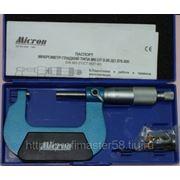 Микрометр гладкий оснащенный твердым сплавом МК 50 (0,01) Micron фото