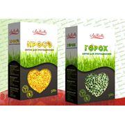 Просо (зерно для проращивания) и Горох (зерно для проращивания)