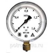 Манометр МТ-100 1,0 МПа М20х1,5 фото