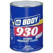 Антикоррозийный состав Body 930 Черный 1л. фото
