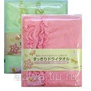 Салфетка-полотенце из микроволокна 2шт/уп в асс. (розовое, зеленое) 30х80 см фото
