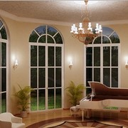 Двери арочные из стекла фото