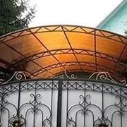 Сотовый поликарбонат 4,6,8,10 мм. Янтарь (Бронза). фото