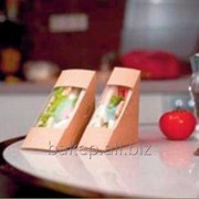Упаковка для сандвичей Треугольник Сандвич 60 фото