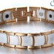 Элитный магнитный браслет «Жемчужина» (белый) фото