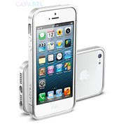 Бампер SGP Case Linear EX Slim Metal Series Satin Silver for iPhone 5 фото