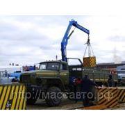 Урал 4320 бортовой с КМУ ИМ-50 за кабиной фото