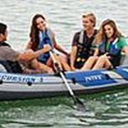 Лодка Excursion Intex 68324 четырехместная до 400кг 315*165*43см (весла, насос) фото