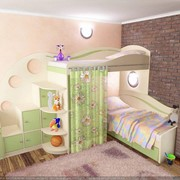 Стенка+двухэтажная кровать фото