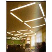 Система освещения из 12-ти светильников с регулируемой высотой подвеса фото