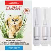 Дана-капли на холку для кошек, препарат против блох фото