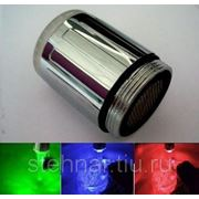 Мини световая насадка на смеситель воды RGB фото