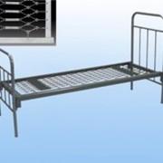 Кровать металлическая солдатская армейская ГОСТ 2056-77 одинарная, одноярусная фото