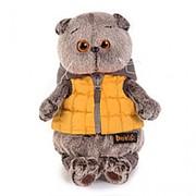 Мягкая игрушка BUDI BASA Ks25-058 Басик в желтой жилетке с серым капюшоном 25 см фото