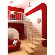 Модульная лестницыа серии Авангард Стандарт на 10 ступеней, высота помещения: 2250-2450 мм фото