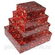 "Комплект коробок из 4шт. ""Снежинки"" 315-997 фото"