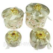 """Комплект коробок из 4-х шт. """"Чайные розы"""" 692-011 фото"""